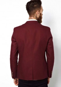 ASOS Slim Fit Blazer In Cotton with 1 Button