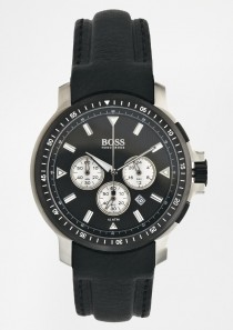 Hugo Boss Black Leather Strap Watch 1512105