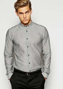 HUGO by Hugo Boss Shirt with Small Button Down Collar